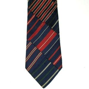 Tommy Hilfiger Italian Silk Tie Navy Red Green